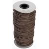 Cotton Wax Cord 2mm Round Light Brown